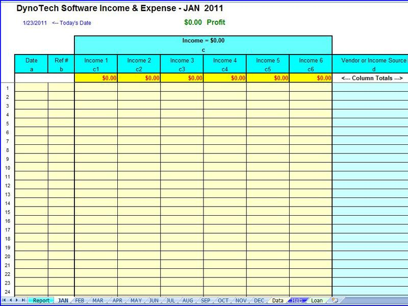 Expenses spreadsheet template for small business wajeb Images