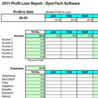 Profit U0026 Loss Report Screen Shot  Business Profit And Loss Statement For Self Employed