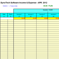 Monthly Expenses screen shot